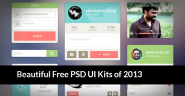 70 Beautiful Free PSD UI Kits of 2013! Best Graphic Items