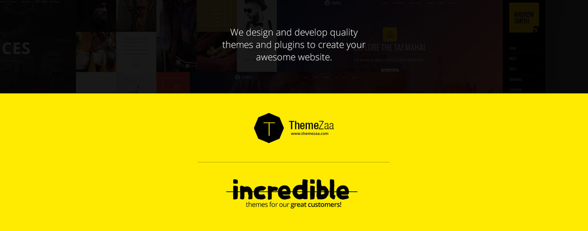 Headline for Premium quality themes and plugins
