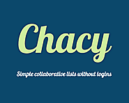 Chacy: Simple Collaborative Lists Without Logins