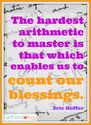 Do the Math (Count Your Blessings) | Thankful Thursday | The New Girlfriendology | Be a Better Friend | Inspiration, ...
