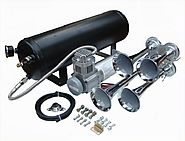 4 Trumpet 139 Decibels Train Sound Air Horn Kit