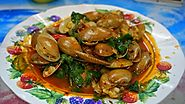 Hoi Wan Pad Cha (Stir-fried Babylon Snails in Roasted Chilli Oil)