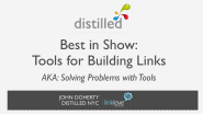 Link Building Tools Of The Trade - by John Doherty