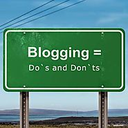 Blogging Do`s and Don`ts : Brainstorming