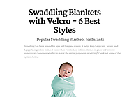 Swaddling Blankets with Velcro - 6 Best Styles