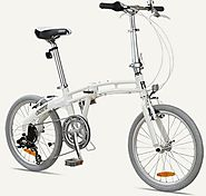 "GOTHAM7 Citizen Bike 20"" 7-Speed Folding Bike with Alloy Frame (Pearl)"