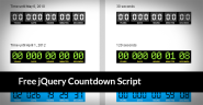 20 Impressive Free jQuery Countdown Scripts of 2013