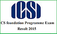 ICSI CS 2015 Result of Company Secretaries Results - Govt jobs Exam Results 2015 Admit Cards And Notifications In India