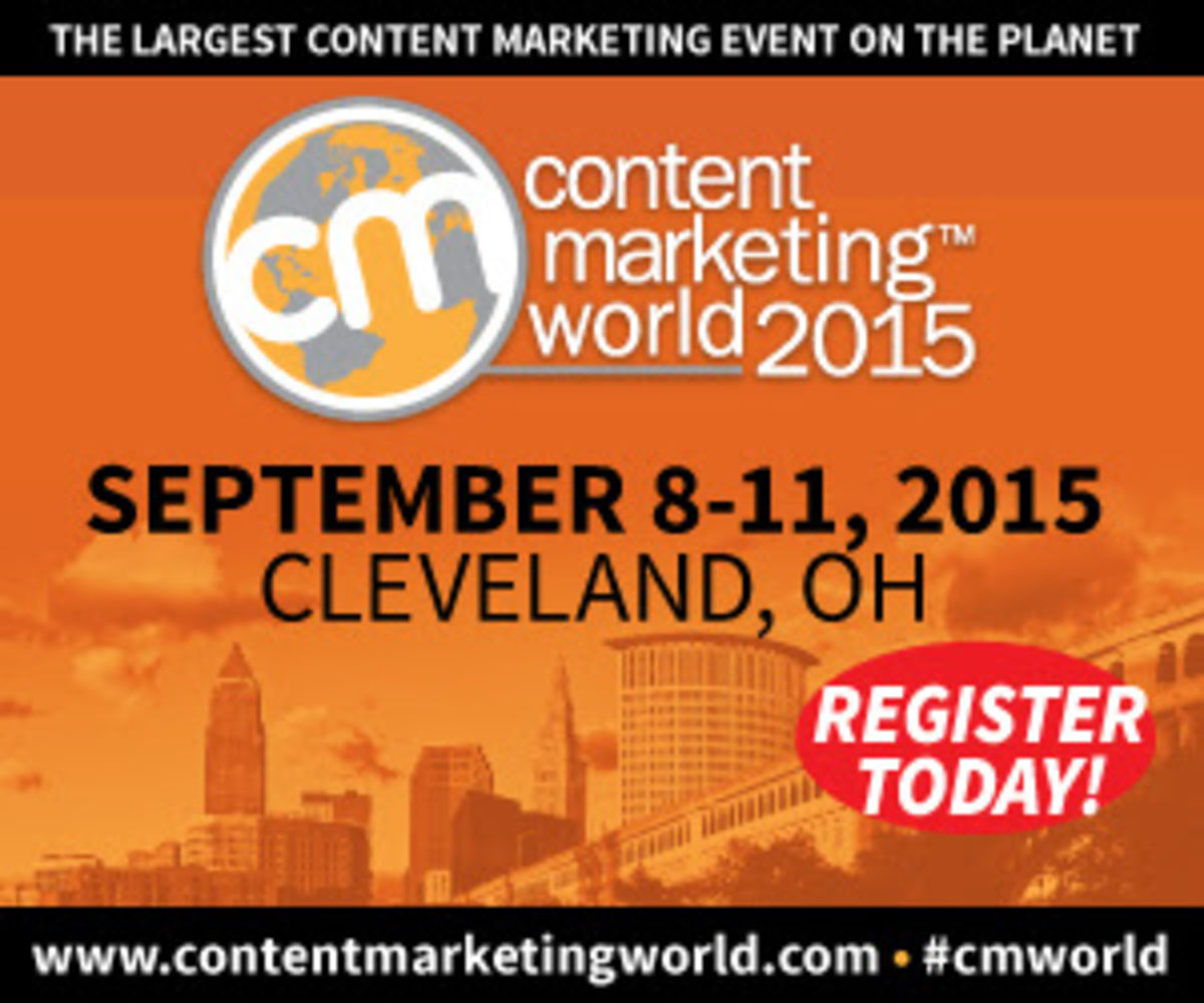 Headline for Content Marketing World 2015 conference