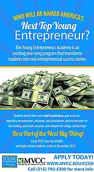 Center for Corporate and Community Education at MVCC's Young Entrepreneur Academy.