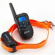 Esky® 330 Yards Remote Training E-collar EP-998DR-300B3 Rechargeable and Waterproof Dog Training Collar with Safe Bee...