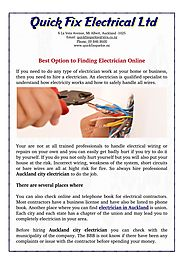 Best Option to Finding Electrician Online