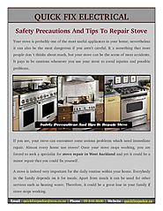 Some Tips And Safety Precautions On How To Repair Stove