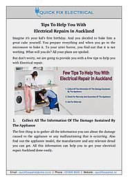 Get Online Tips for Electrical Repairs In Auckland