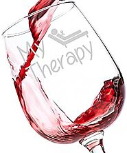My Therapy Funny Wine Glass - Perfect Birthday Gift for Women - Unique Christmas Stocking Stuffer Idea or Novelty Whi...
