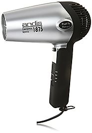 Andis 1875-Watt Fold-N-Go Ionic Hair Dryer , Silver/Black (80020)