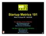 Startup Metrics 101: a Product & Marketing Workshop