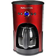 Kalorik Stainless Steel/Black Programmable 12-Cup Coffee Maker - Kitchen Things