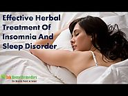 Effective Herbal Treatment Of Insomnia And Sleep Disorder