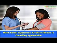 Which Herbal Supplements Are More Effective In Controlling Hypertension?