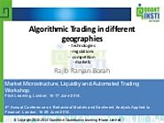 Algorithmic Trading in Different Landscapes