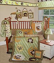 Cute Baby Girl Monkey Crib Bedding Sets Powered by RebelMouse