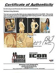 Brie Bella Twins Event Used Dress WWE Worn in 2009 Topps ECW Card Divas - PSA/DNA Certified - Autographed Wrestling P...