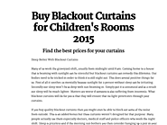 Buy Blackout Curtains for Children's Rooms 2015