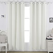 Deconovo Microfiber Grommet Top Thermal Insulated Blackout Curtain Back Layer With Thermal Coating, 52x63-Inch, 1 Pai...