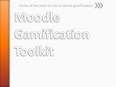 Moodle gamification tools