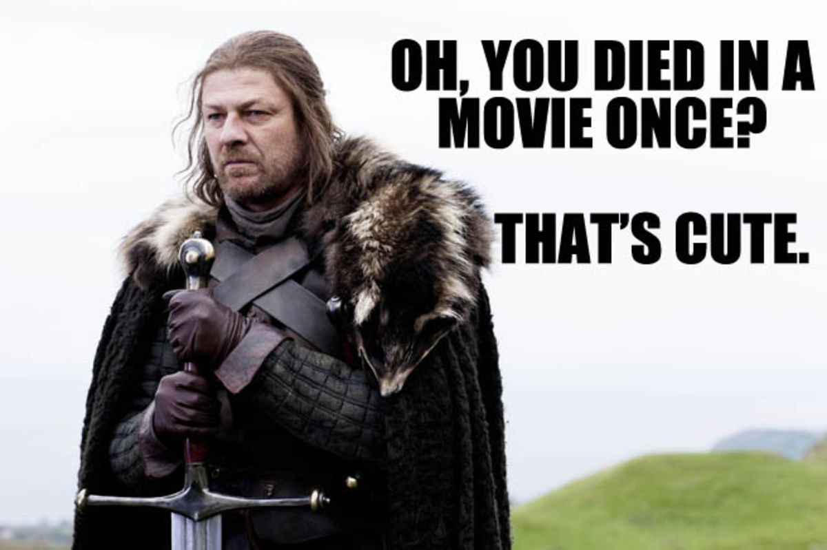 Headline for Listing out few of many deaths of Sean Bean