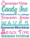 Free Summer Fonts - Alderberry Hill