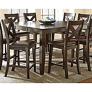 Steve Silver Crosspointe Counter Height Dining Table - Dark Espresso Cherry