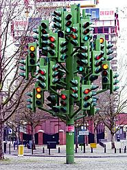 Check Out The Traffic Light Tree