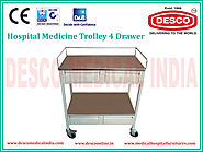 Hospital Medicine Trolley - Suppliers, Manufacturer and Exporters India