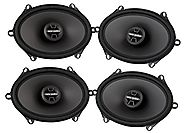 "4) NEW MTX Thunder TDX68 5x7""/6x8"" 240W 2 Way Car Coaxial Stereo Speakers Four"