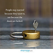 People Stay Married Because They Want