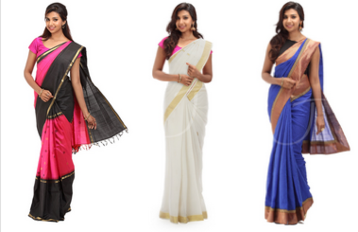 Headline for Smart Fancy & Casual Wedding Silk Cotton Tussar Silk Jute Sarees Collections