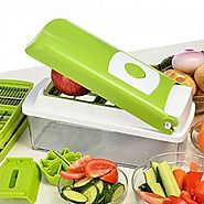 12 In1 Fruit Vegetable Mandolin Slicer Shredder Peeler Food Container Grater Knife