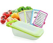 Mandoline Slicer - Premium 6 Piece Grater Cutter Shredder Slicing Set
