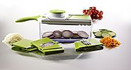 MEGLIO Adjustable Mandoline Slicer with 4 Interchangeable Blades
