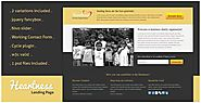 Charity landing page template - Wall-Spot