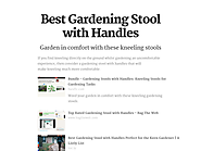 Best Gardening Stool with Handles