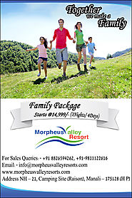 Family Packages for manali
