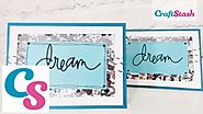 Tutorial: Wonky Stitches - Dream shaker card by Janette Lane