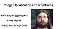 Image Optimization For WordPress.ppt