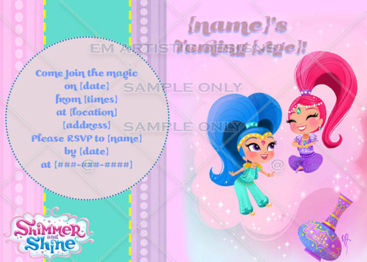 Headline for Shimmer and Shine Birthday party ideas and supplies for themed party