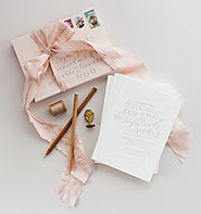 Trending Wedding Invitations + Stationary | Daily Wedding Inspiration - Satin & Script