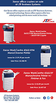 Get Xerox office copiers on sale at JTF Business Systems