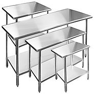 Gridmann Stainless Steel Commercial Kitchen Prep & Work Table - 48 in. x 24 in.